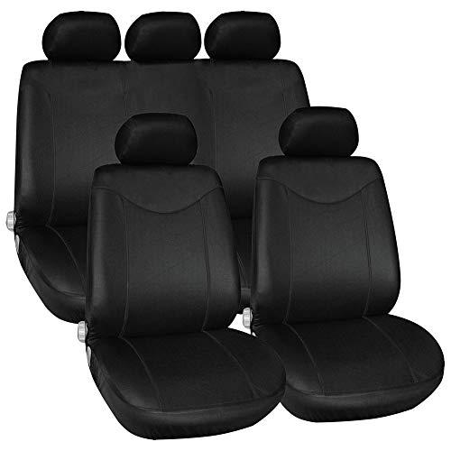 Tirol Universal Car Seat Cover 9 pcs/set Mesh Fabric Black Seat Dust Cover Full Car Seat Protector...