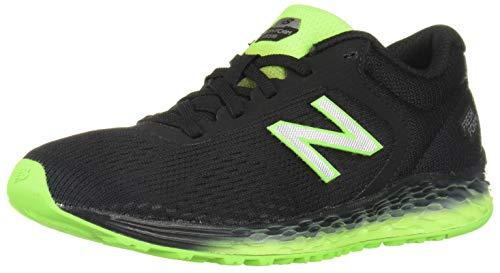 New Balance Kid's Fresh Foam Arishi V2 Lace-Up Running Shoe, Black/Green, 6 M US Big Kid