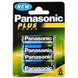 Panasonic R6BE/4BP Zink-Carbon Batterien, 4 Stück Mignon LR6 AA