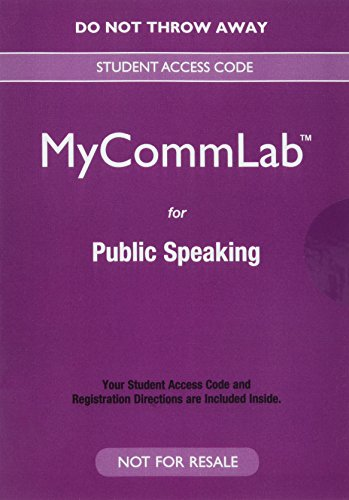 Public Speaking: Strategies for Success, Books a la Carte Edition Plus NEW MyLab Communication for Public Speaking--Acce