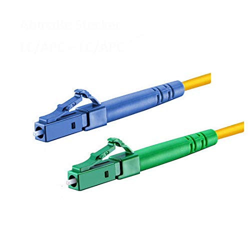 CONBIC® Cable de fibra óptica LWL, 10 m, OS2 amarillo, LC/UPC a...
