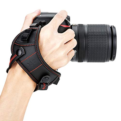 JJC Deluxe DSLR Camera Hand Strap with Quick Release Plate for Nikon D850 D750 D780 D500 D7500 D7200 D3500 D3400 D5600 D5500 D5300 D5200 D3300 D3200 D7100 D810 D800 D600 D610 D5 D4s D4 D3s & More DSLR