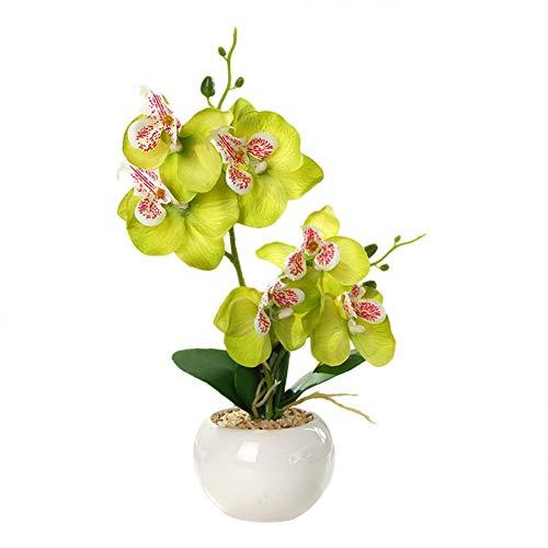 SNIIA Kunstbloemen bonsai met vaas, grote levendige orchidee plant arrangement Phalaenopsis bruiloft home kerststuk decoratie