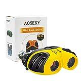 Aoneky Compact Mini Gomma 8 x 21 Bambini binocolo per Bird Watching Migliori Regali di Natale per Bambini (Giallo)
