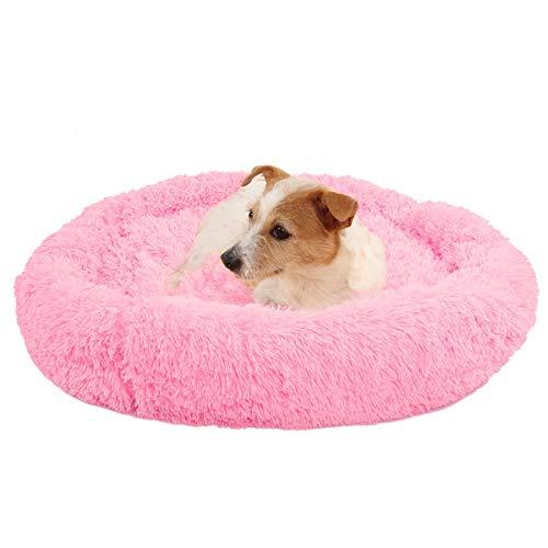 cuccia cane 4 stagioni Greatangle-UK Cuccia per Cani da Compagnia Cuccia per Cani Quattro Stagioni Universale per Dormire a Pelo Lungo Nido Rotondo Peluche Letto per Animali in Cotone PP