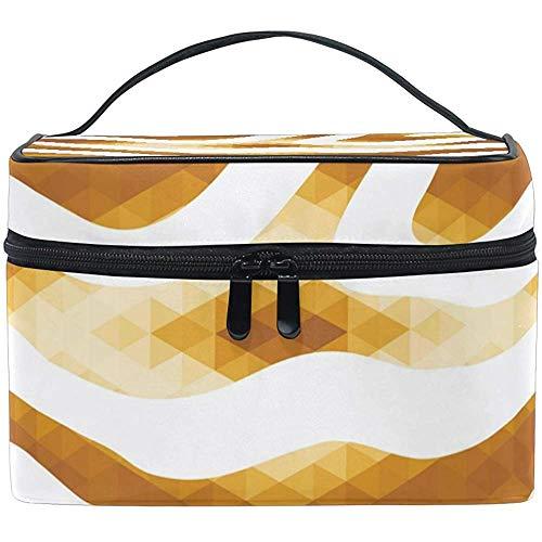 Sacs de Maquillage de Voyage avec Fermeture éclair Animal Print Golden Texture Cosmetic Bag Portable Multifunction Case