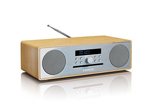 Lenco DAB+ Stereo Digitalradio mit CD-Player und Bluetooth DAR-070 (DAB, DAB+, UKW, RDS, USB, AUX) 2 x 18 Watt RMS Musikleistung