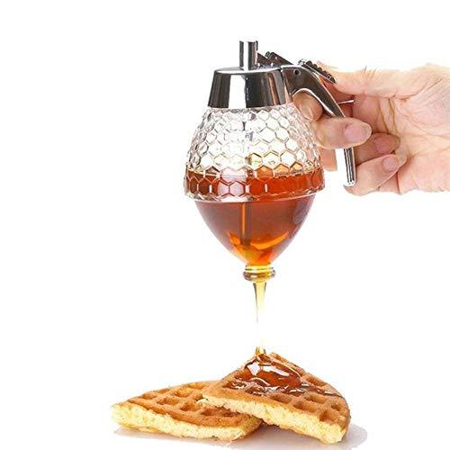 Hot sale Honey Dispenser Transparent Acrylic Honeycomb 200ml Honey Pot Muffins Companion Best Appliance Leakage Dinnerware