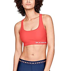 Under Armour Women's Heatgear Armour Mid Impact Crossback Sports Bra
