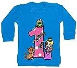 Hariz - Jersey para bebé, diseño de princesa de cuento de cuento de cuento de princesa, para niños, incluye tarjeta de regalo, delfín azul, 12 – 18 meses