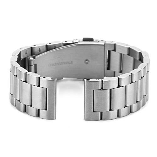 Eulbevoli Correa de Reloj de Pulsera Accesorio de Repuesto para Correa de Reloj 1 Juego Duradero con Color metálico Brillante(Silver)