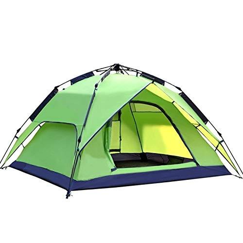 AOGUHN-tent - Automatische kampeertent, 3-4-persoons familietent Dubbellaags Instant-opstelling Portable Backpacking-tent voor wandelreizen
