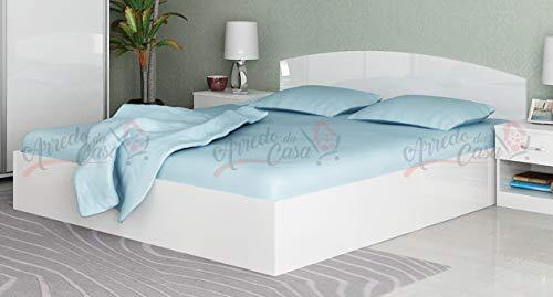 Arredodacasa.com Letto Matrimoniale Contenitore LG7 160x200 (Bianco Lucido)