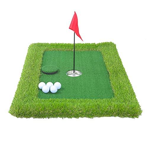Hidyliu 60 x 30 cm Golf Simulation Gras Trainingsmatte, 10-teiliges Set Golf Puttingmatte, Tragbare Übungsmatte, Putting-Übungsmatte für Wassergolf, Geeignet für Golfanfänger und -amateure(Grün)