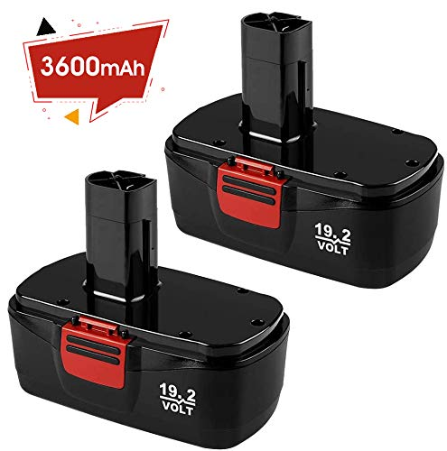 【Upgraded to 3600mAh】 Replacement for Craftsman 19.2 Volt Battery C3 Ni-Mh 1323903 130279005 11375 315.115410 315.11485 315.114852 Cordless Drill Batteries 2 Packs