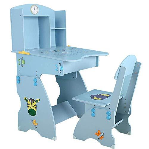 ZLININ Niños Estudio Teórico Juego de sillas Silla tabla muestra escritorio y silla Vector Y Silla Conjunto del escritorio del hogar de niños con estantería Y Muchacha Escritorio Mesa elevadora Presid
