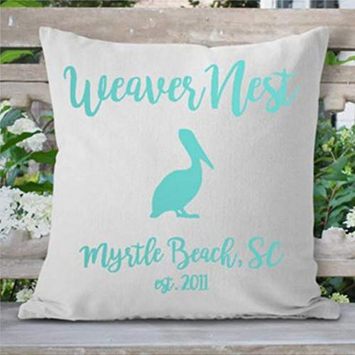 Pelican Beach Decor Beach House Pillow cover Pelican Print Beach House...