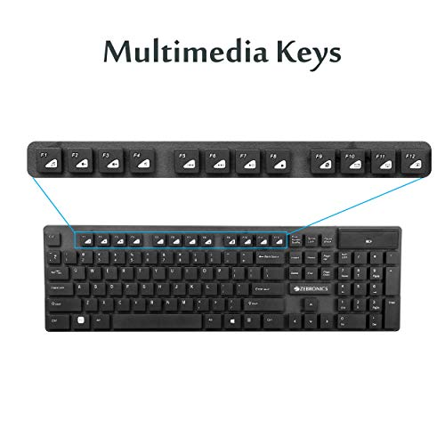 Zebronics Companion 102 Wireless Keyboard and Mouse