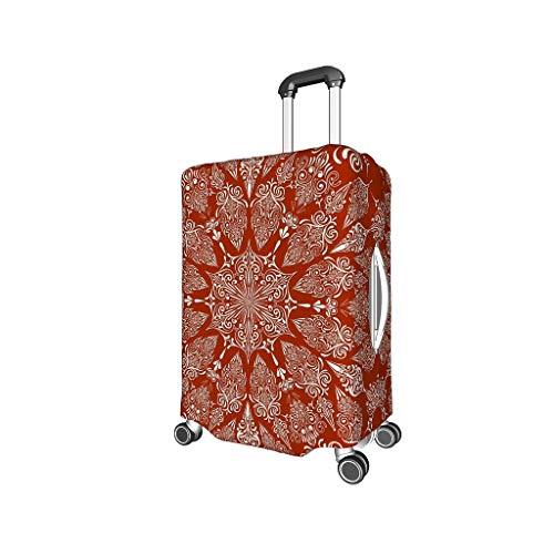 XJJ88 - Funda para Equipaje de Viaje, diseño de Mandala, Color Rojo, Blanco (Blanco) - XJJ88-scc
