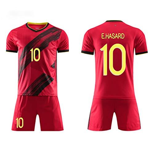 Sommer Fußballuniform 2020 Modric10 Europapokal Belgien Trikot Erwachsene Kinder Fußballkleidung Trainingskleidung Kurzarm Shorts können angepasst werden-red10-20