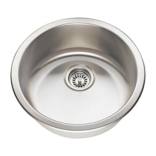 465 16-Gauge Dual-Mount Single Bowl Stainless Steel Bar Sink