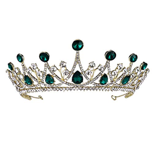 FRCOLOR Coronas de Tiara de Cristal Nupcial Corona de Diamantes de Imitación...