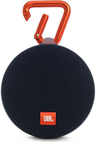 JBL Clip 2 Wasserdichter Tragbarer Wiederaufladbarer Lautsprecher mit IPX7 Wasserschutz, Aux-Konnektivität und Integrierter Freisprechfunktion - Schwarz