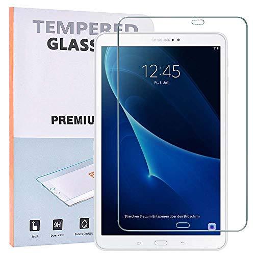 """REY 2X Protector de Pantalla para Samsung Galaxy Tab A6 T580 2016 10.1"""", Cristal Vidrio Templado Premium, Táblet"""