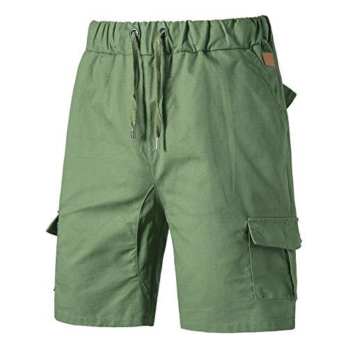 Pantalones Cortos Holgados Pantalones Cargo Casuales de Verano Monos Deportivos de Moda de Talla Grande con múltiples Bolsillos con cordón XL