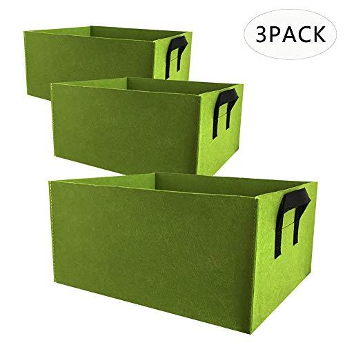 Shujin 3er Set Pflanzsack Aus Vliesstoff Pflanztasche Pflanze Wachsende Tasche Pflanzsack mit Griffe Garten Sack Pflanzgefäß Für Kartoffeln, Tomaten Und Erdbeeren