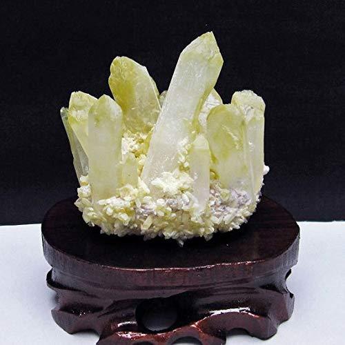 【東昇天然石】シトリン クラスター 黄水晶 原石台座付属 182-3301