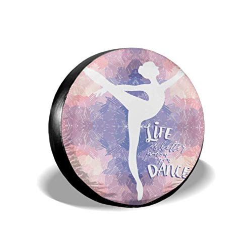 Ballerina Dance On Artistic Life bandenafdekking voor meisjes bandenafdekking geschikt voor trailer Rv SUV en vele voertuigen 14-17 inch
