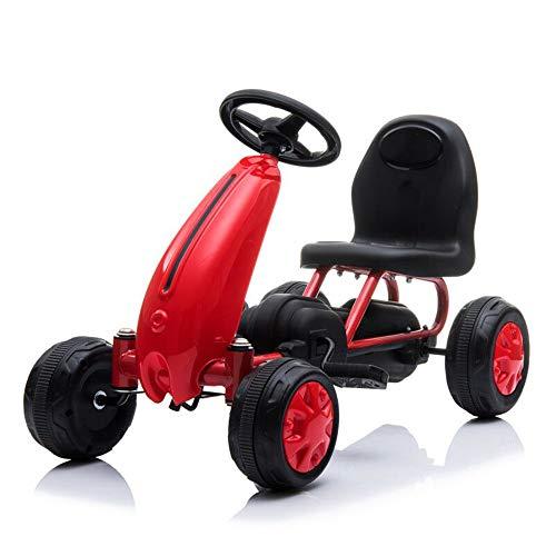 Moni Go Kart per Bambini, Auto a Pedali Blaze, Pneumatici in plastica, Schienale Alto, Fino a 30 kg, colorazione:Rosso