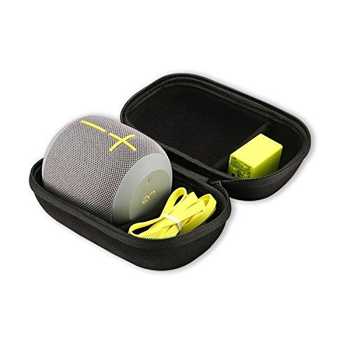 ProCase Estuche Duro para Ultimate Ears WONDERBOOM/WONDERBOOM 2, Funda de Viaje de EVA Duro con Compartimiento de Adaptadora y Cable Cargador para UE WONDERBOOM Altavoz Portátil -Negro