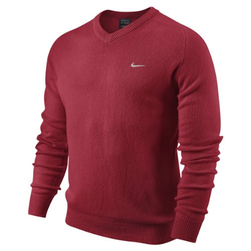 Nike Golf Adults NW Lambswool V Neck Red red Size:XL