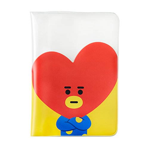 BT21 RJ Character Cute Clear Passport Holder Cover Wallet for Travel, White