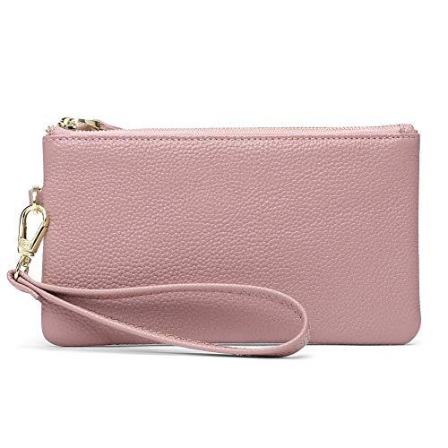 Women's Wristlet Clutch Slim Leather Wallet RFID Blocking Handbag