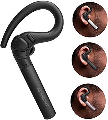 NENRENT S580 Bluetooth Headset, Longest Call time up to 12-15 hour Wireless Bluetooth Earpiece Earbud Headphone Earphone with Mic Hands-Free Calls for iPhone iPad Samsung Galaxy LG 1 Unit from NENRENT