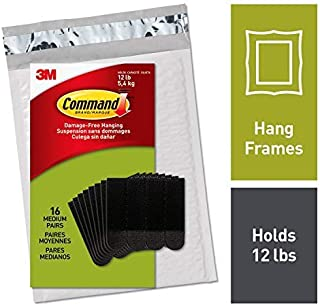 command PH204BLK-16NA Value Pack Picture Hanging Strips, Medium, Black