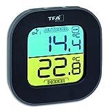 TFA Dostmann Fun Thermometer mit Aussensensor Funk, innen/aussen, digital, Tendenzpfeilen, schwarz