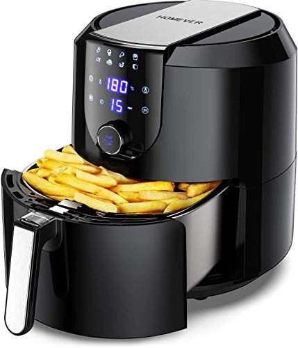 5.8-Quart Programmable Air Fryer, Electric Hot Air Fryers Oilless Cooker with 10 Presets, Digital LCD Touch Screen, Nonstick Basket, 1700W, UL Listed