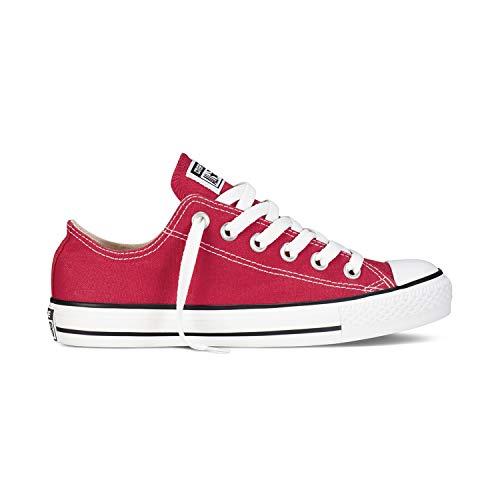 Converse Chuck Taylor All Star - Zapatillas de lona unisex, con pegatina de 7 km/h, color Rojo, talla 43 EU