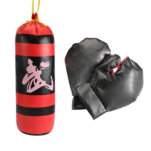 Kinder Boxing Toy mit Handschuhen Mini wiederverwendbare hängende Boxsack entwickeln Intelligenz und kultivieren weiche und angenehme Interesse an reiner Baumwolle