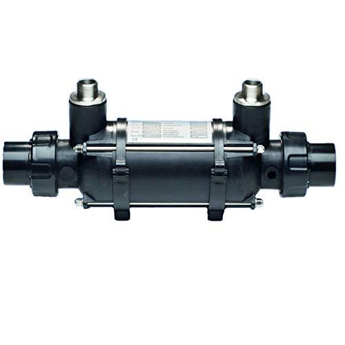 well2wellness® Dapra Plastic Line - Scambiatore di calore con tubo ondulato in titanio, 25 kW