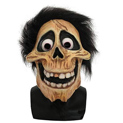 hcoser coco:Máscara de Hector Rivera de Halloween Cosplay, Disfraces, Halloween, Carnaval, Sonrisa, Casco para niños y Adultos
