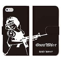 301-sanmaruichi- iPhone 12 ケース 手帳型 iPhone12 手帳型 PUレザー おしゃれ 白雪姫 snow white hunter 手帳ケース