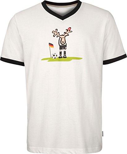 Elkline Ecke T-Shirt Herren White Größe M 2018 Kurzarmshirt