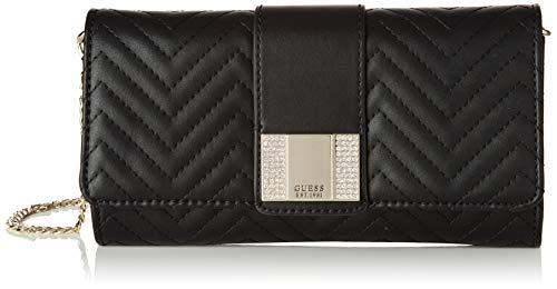 Guess Night Twist Clutch, bolso bandolera para Mujer, Negro (Black), 4x13x23 Centimeters (W x H x L)