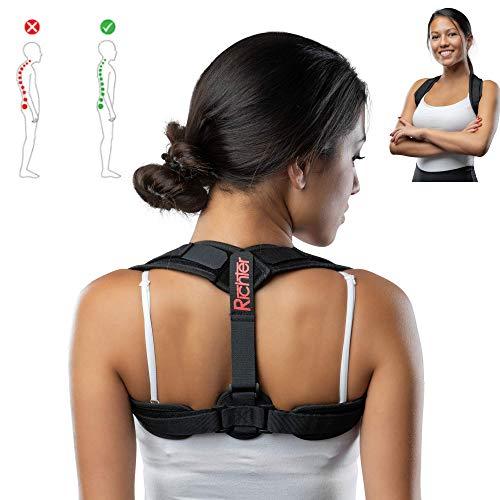 Richter Rückenstütze Haltungskorrektur Rückenbegradiger Geradehalter Stabilisator Rückengurt Frauen Männer Unisex