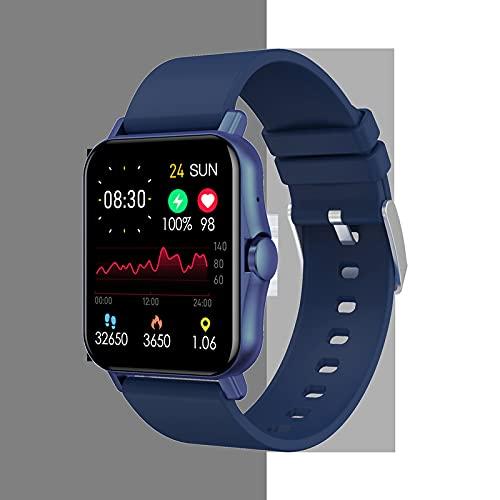 Zwbfu 2021 Exterior Comercio Nuevo ZW23 Pantalla Grande Bluetooth Call Cuerpo Temperatura Reloj Inteligente Ritmo cardíaco Presión Arterial Medición de la Temperatura Corporal(Azul)